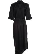 Nanushka Dress 3/4s Satin - Black