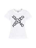 Kenzo Logo Print Cotton T-shirt - White