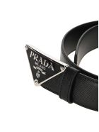 Prada Saffiano Leather Belt - BLACK 1