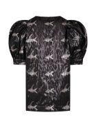 Caroline Bosmans Black Dress For Girl With Colorful Fishes - Black