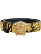 Versace Leather Belt With Buckle - black