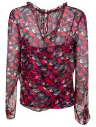 Diane Von Furstenberg Floral Print Lace Top - Night