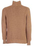 Drumohr Sweater Crater Neck W/plait - Camel