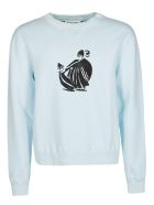 Lanvin Printed Sweatshirt - LIGHT BLUE