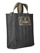 Fendi Striped Shopper Bag - Gxn Black Palladio