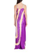 Palm Angels Tie-dye Printed Slip Dress - Viola
