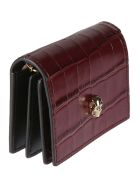 Alexander McQueen Chain Extra Shiny Card Holder - Bordeaux