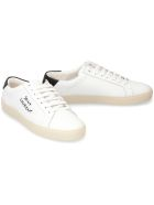 Saint Laurent Court Classic Leather Low-top Sneakers - Bianco