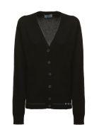 Prada Linea Rossa Knitted Cardigan - Nero