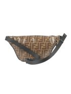Fendi Belt Bag Marsupio - Tw Mogano Panna Black