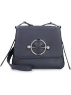 J.W. Anderson Disc Leather Shoulder Bag - blue