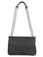Bottega Veneta Olimpia Small Shoulder Bag - Nero/silver