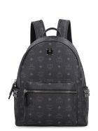 MCM Stark Visetos Backpack With Studs - black