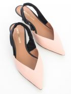 Emporio Armani Pointed Chanel Pumps Bicolour W/belt - Nude Black