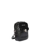 Miu Miu Leather Bandoliera Bag With Crystals - Black