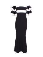 La Petit Robe Di Chiara Boni La Petit Robe By Chiara Boni 'parvati' Polyamide Dress - Black White
