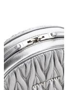 Miu Miu Quilted Round Mini Bag Crystal Chain - CROMO (Silver)
