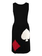 Boutique Moschino Intarsia Knit-dress - black