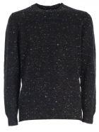 Drumohr Sweater W/buttons Check - Grigio