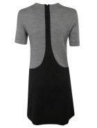 Givenchy Round Neck Short Dress - Heather grey