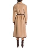 Alberta Ferretti Long Belt Coat - Beige