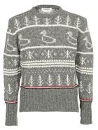 Thom Browne Duck Icon Sweater - Med grey