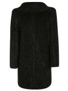 Max Mara Double Breasted Long Fur Coat - Black