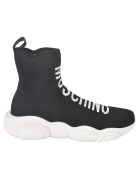Moschino Logo Front Sock Sneakers - Black