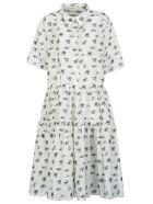 Cecilie Bahnsen Short-sleeve Motif Print Dress - White