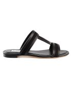 Tod's Tod's Double T Flat Sandals - Nero