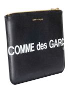 Comme des Garçons Shirt Boy Logo Print Wallet - Black