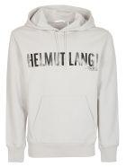 Helmut Lang Printed Logo Hoodie - Gray