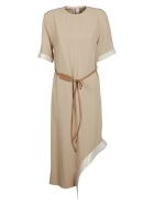 Victoria Beckham Belted Dress - Beige/camel
