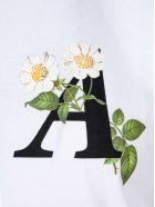 Palm Angels Daisy Logo Cropped T-shirt - Bianco