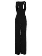 Dsquared2 D Squared Crepe Viscose Deep V Sleveless Jumpsuit - BLACK