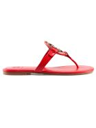 Tory Burch Liana Flat Sandals - Brilliant Red/gold
