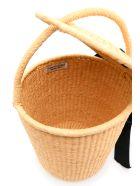 Sensi Studio Wicker Bucket Bag With Bow - BEIGE (Beige)