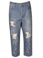 Balmain Destroyed Jeans - Blue