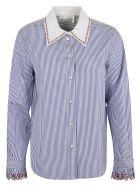 Chloé Stripe Print Shirt - Blue/White