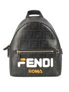 Fendi Fendimania Mini Backpack - Cfm Black White Gold Soft