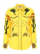 Jessie Western Embroidered Shirt - YELLOW (Yellow)