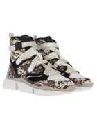 Chloé Chloe' High Top Sneakers - ETERNAL GREY