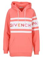 Givenchy Contrasting Stripes Hoodie - PINK WHITE