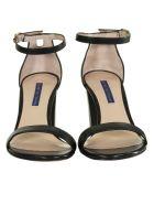 Stuart Weitzman Open Toe Sandals - BLACK
