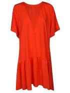 Rochas Oversized Dress - Bright Red