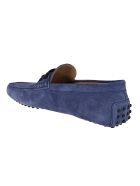 Tod's Blue Suede Gommino Loafers - Blue