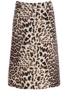 Prada Animalier Midi Skirt - ALBINO (Brown)