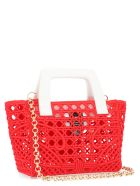 GCDS 'ciao Gcds' Bag - Red