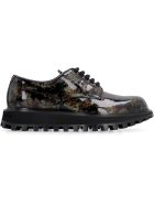 Dolce & Gabbana Glittered Patent Leather Derby Shoes - Verdenero