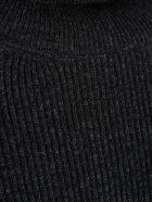 Nanushka Dress L/s Turtle Neck Wool - Charcoal